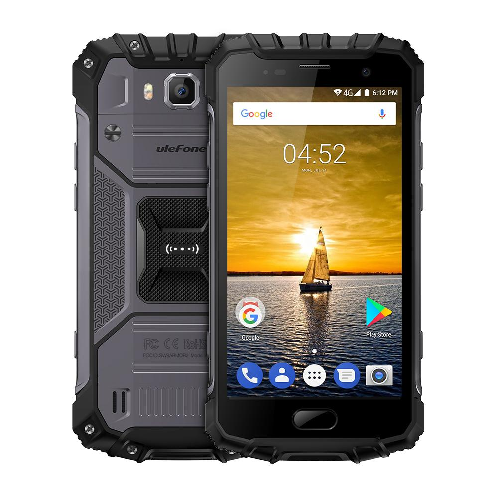 Ulefone Armor 2 Android 7.0 Waterproof IP68 Helio MTK P25 Global Version Rugged 4G Phone w/ 6GB RAM 64GB ROM - Grey/Gold(US Plug)