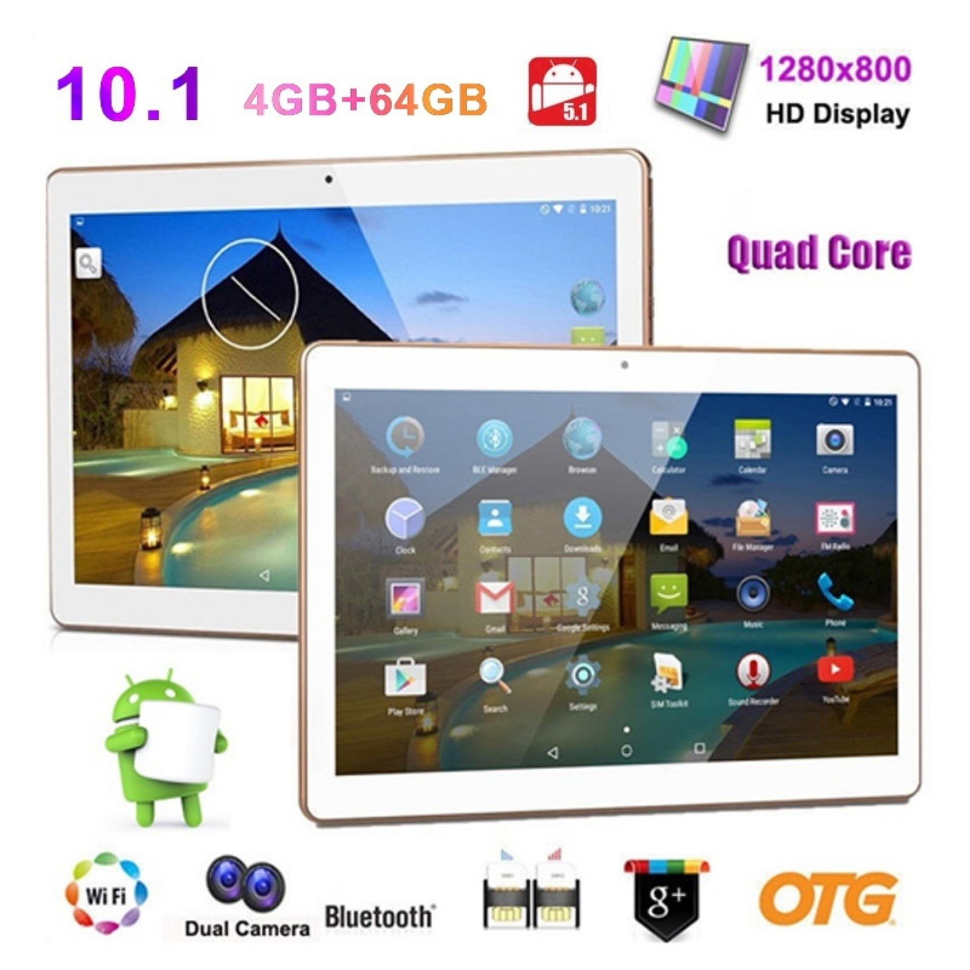 Tablet 10 Inch Octa-Core 4G Ram 32G Rom Android 5.1 Dual SIM IPS Screen MIC US Plug