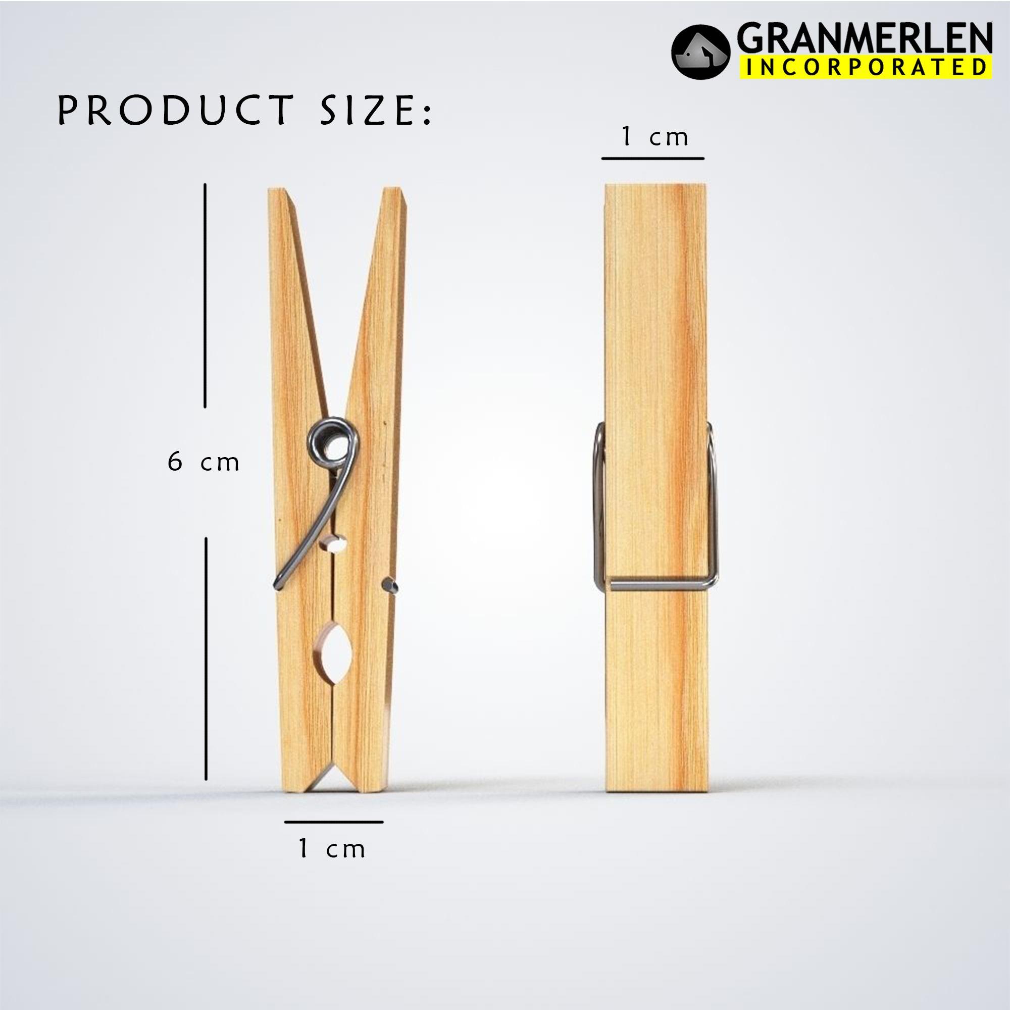 20 Piece Wooden Clothes Clip Clothes Pin