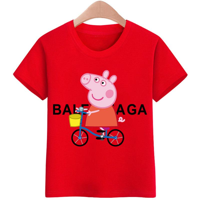 a99dd896 Tshirt for kids Peppa Pig Bike T-shirt Girls Cartoon Pattern T-shirt  Children Summer Short Sleeves 100% Cotton Tee K1922 | Lazada PH
