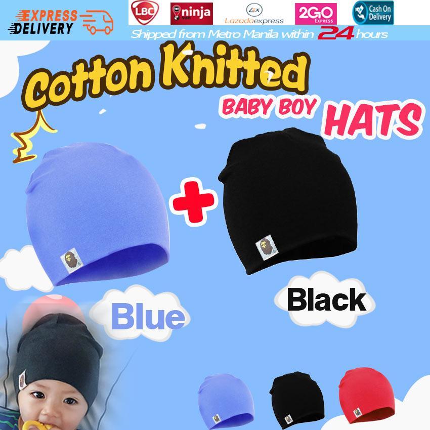 2Pcs Sweet Toddler Infant Baby Kids Boy Girl Warm Hat Cap Cotton Beanie Fast US