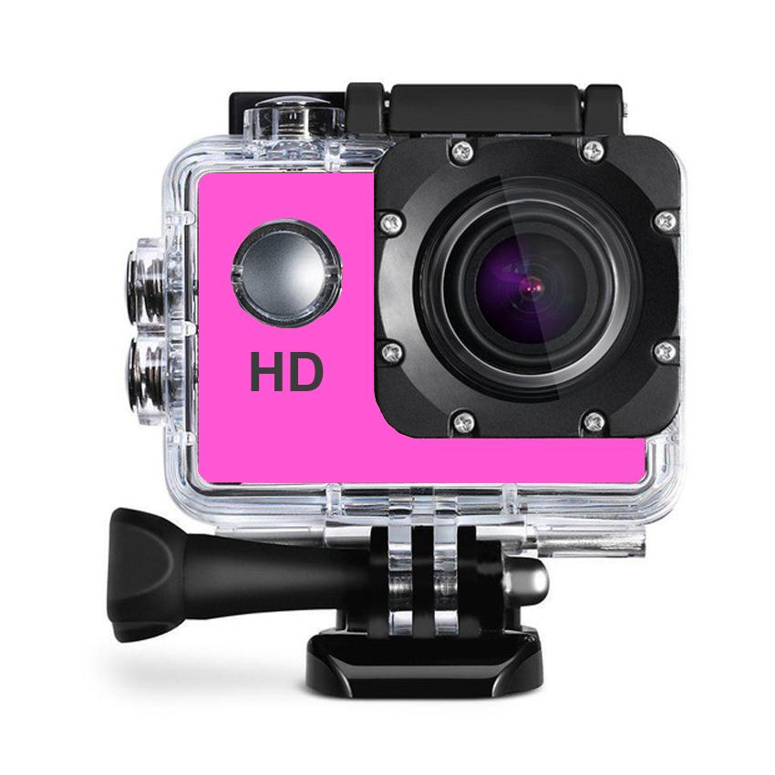 A7 Ultimate Sports Action Cam camera Under Water Waterproof Extreme go pro , gopro (Pink)