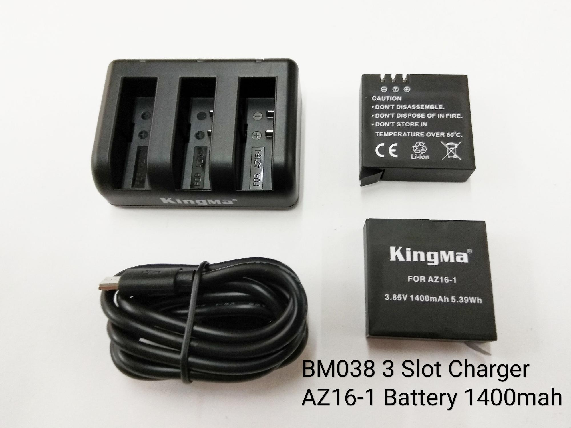 Tlp Xiaomi Yi 2 Gen 4k 70000kingma Brand Battery With 3 Slot Charger For Lite Action Camera
