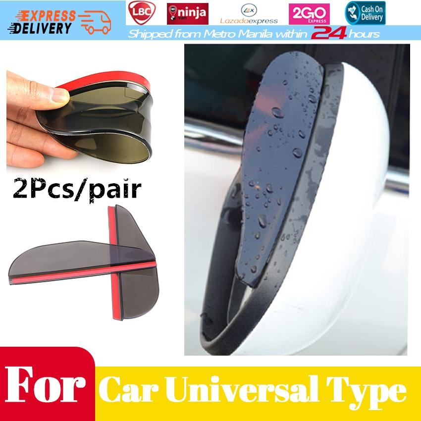 Awnings & Shelters Exterior Accessories 2pcs Universal Car Rear View Mirror Anti Rain Visor Snow Guard Weather Shield Flexible Sun Shade Cover Rearview Mirror Shade