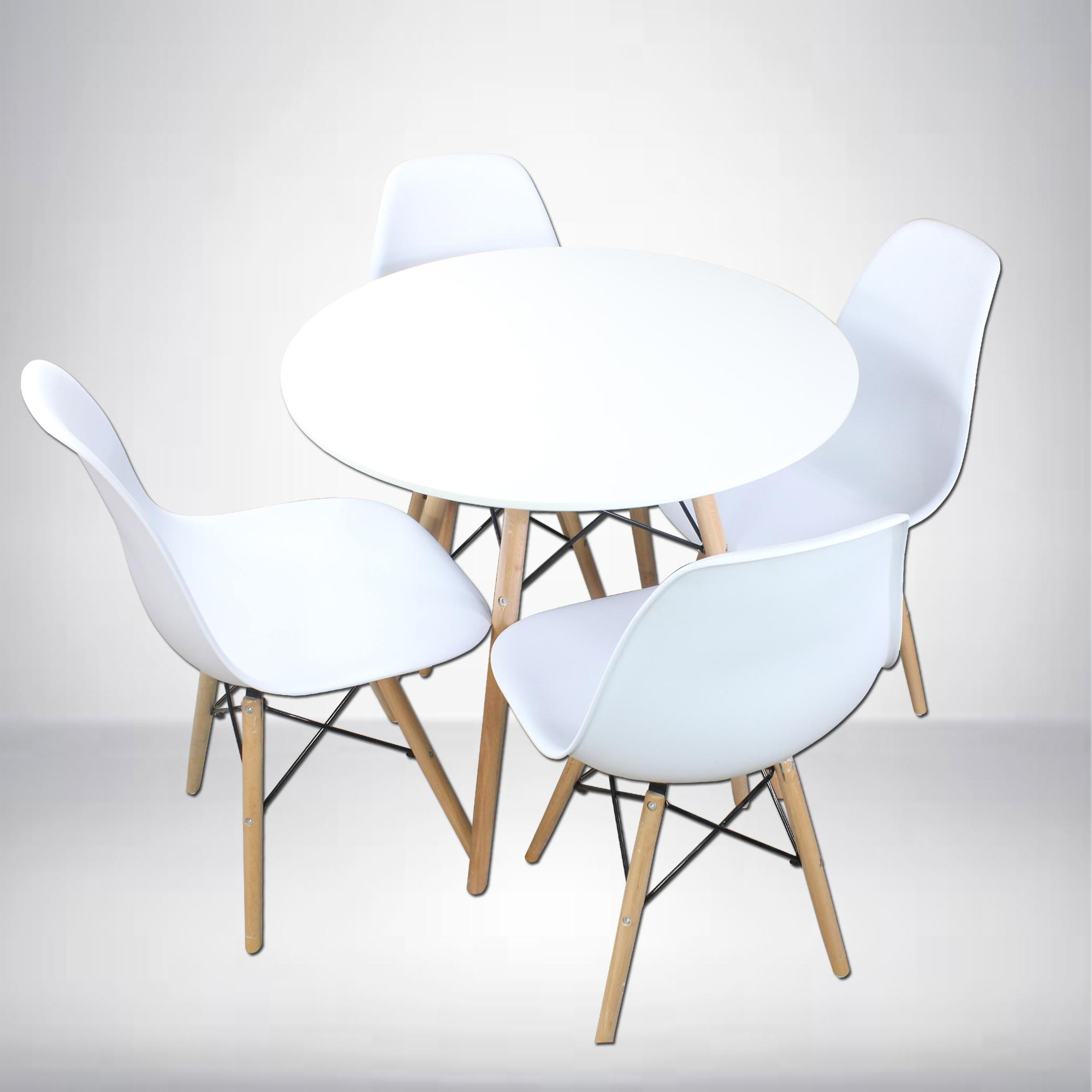 A9B 9pc Round Dining Table and A-9 9pcs Dining Chair Dining Set