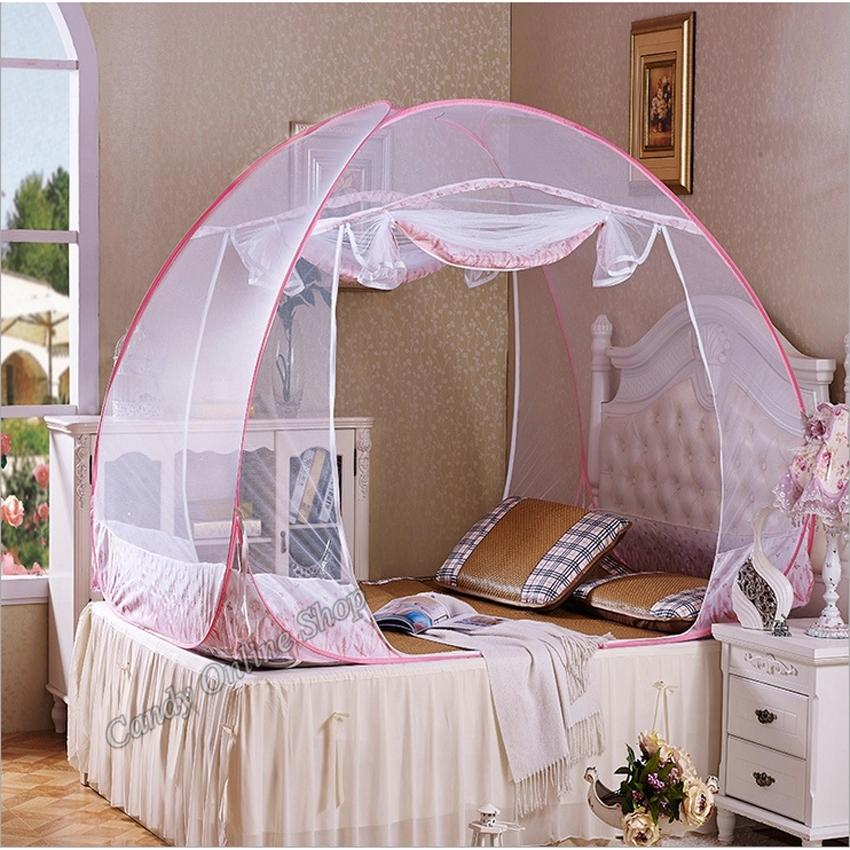 Double Bed Size Folding Mosquito Net (180x200) image on snachetto.com