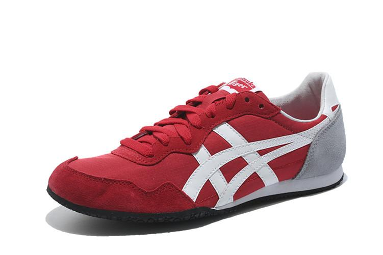 "Fashion Brand Asic Official ""ONITSUKA Tigers"" Red White Sport MEN/WOMEN Running Shoe Serrano"