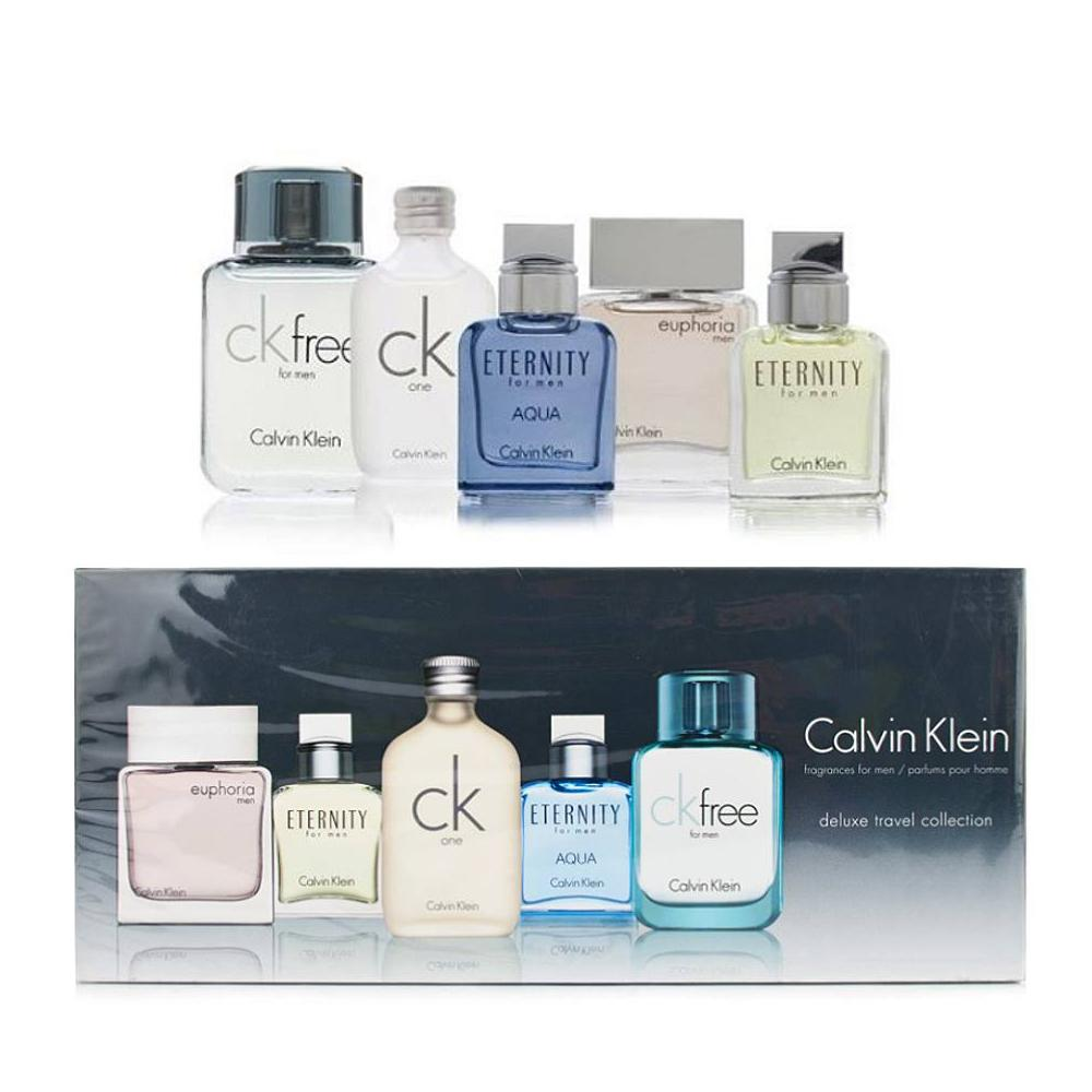 Calvin Klein CK Set Deluxe Travel Collection Miniature Bottle Set of 5