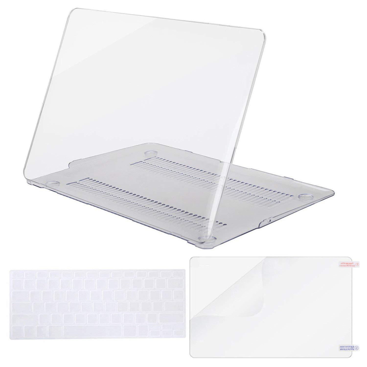 huge selection of 294dd 7891d MacBook Air 13 Case Transparent Frosted Plastic Hard Shell Case Cover  Bundle for Apple MacBook Air 13 Inch A1369/ A1466 Contains Keyboard Cover