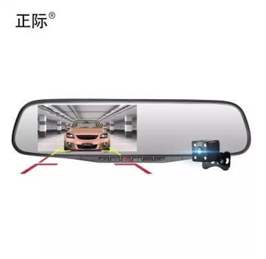 New C101 4.3 DVR Rear View Mirror Dash Camera Recorder