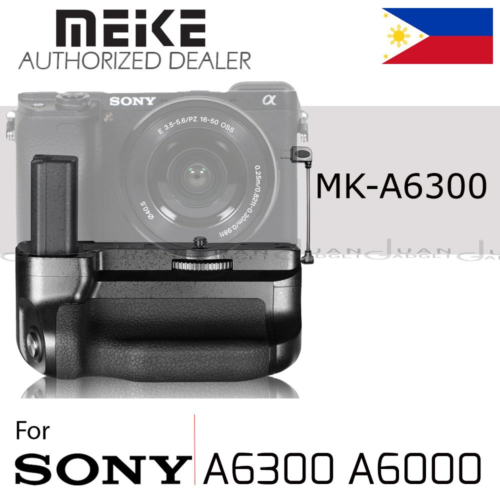 Meike MK-A6300 Vertical Battery Grip and Pack holder For Sony A6300 A6000 camera NP-FW50