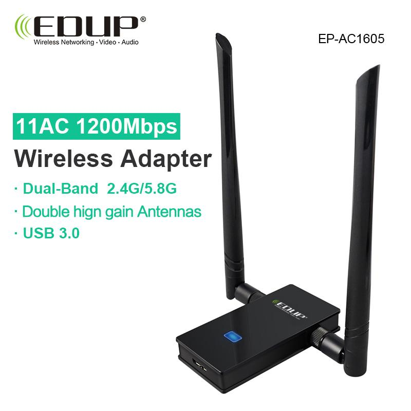 EDUP usb wifi adapter 1200mbps 5ghz high gain wifi antenna 802.11ac long distance wifi receiver usb 3.0 wi-fi ethernet adapter(Note: If there is [] in the name, [] is the value of this product, please note)