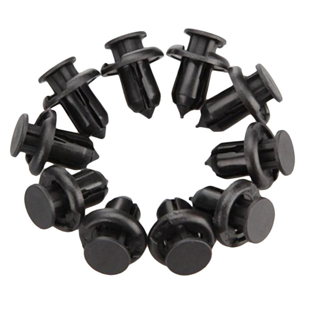 100 Pcs Black Rivet Fastener Moulding Clips for Honda Accord CIVIC Spirior CR-V
