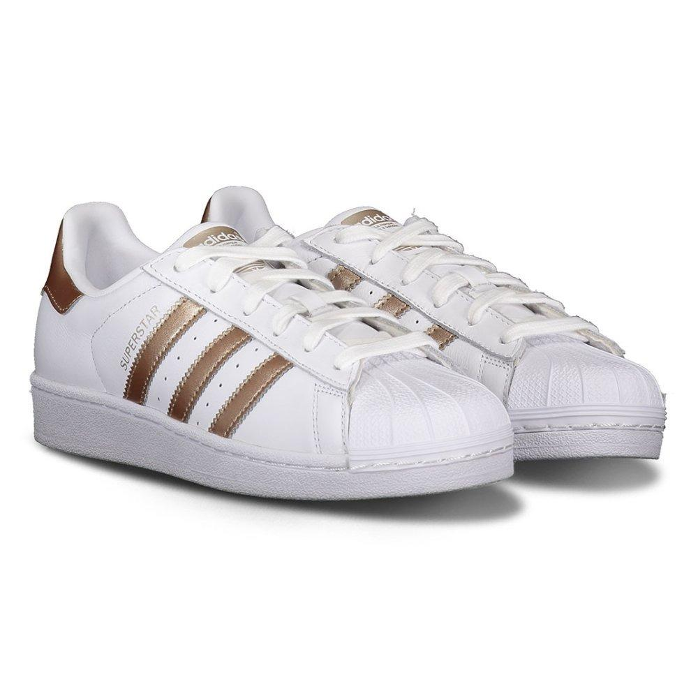 adidas superstar rose gold stripes