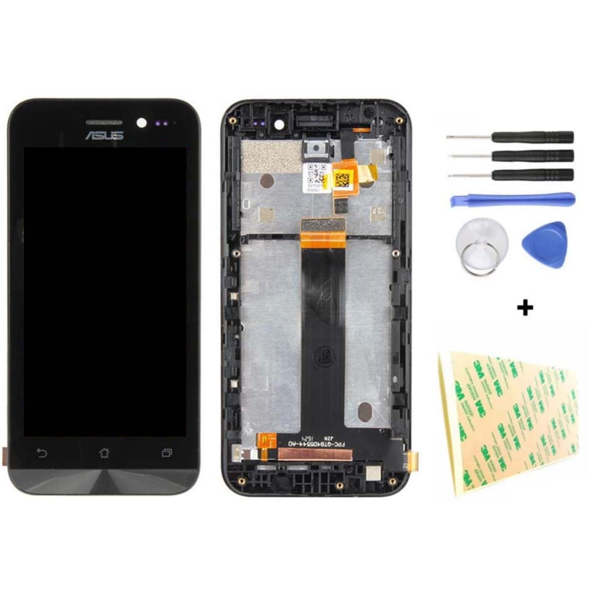 Untuk Asus Zenfone Go ZB452KG X014D Hitam 4.5 Inch Penuh Layar LCD + Layar Sentuh Perakitan Kaca Digitalizer dengan Bingkai-Internasional