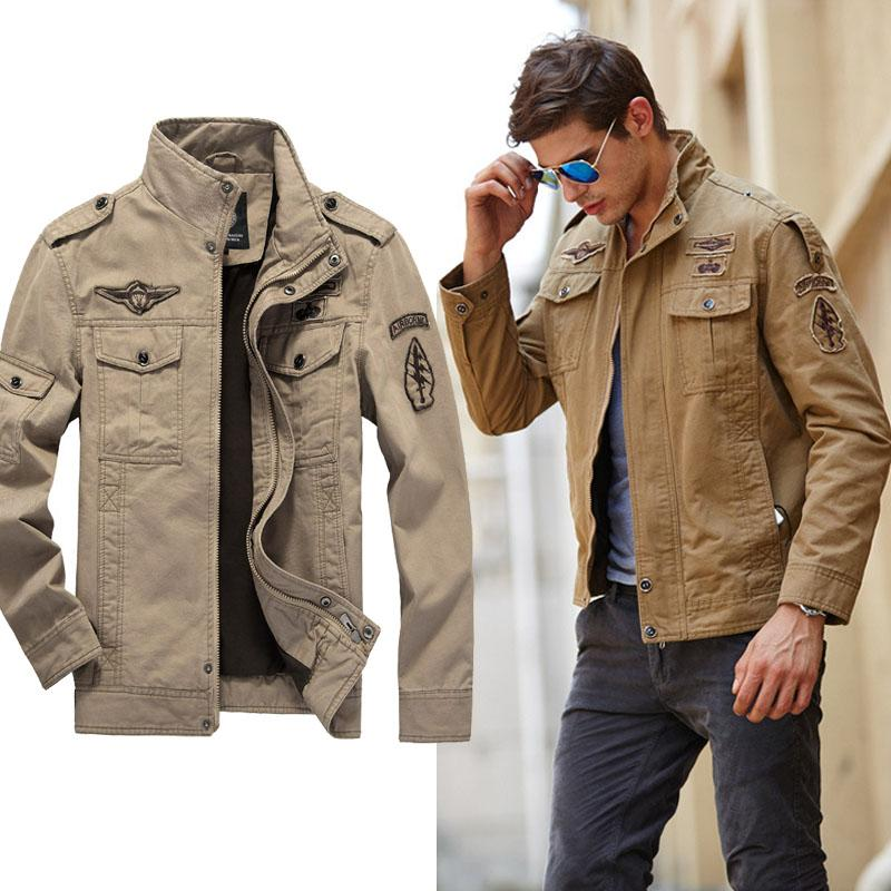 cc8313087a1aa Product details of 2018 Men Washed Cotton Military Jacket Stand Collar  Overoat Winter Windproof Outerwear Slim Tactical Romper Jacket