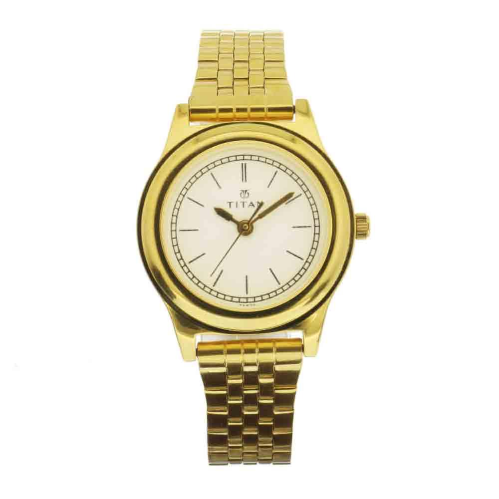 Titan GSPED Ladies  Gold Stainless Steel Watch TTN99201YM01