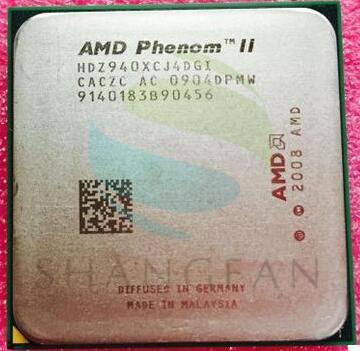 AMD Phenom X4 940 3GHz Quad-Core CPU Processor HDZ940XCJ4DGI 125W Socket AM2+/940PIN