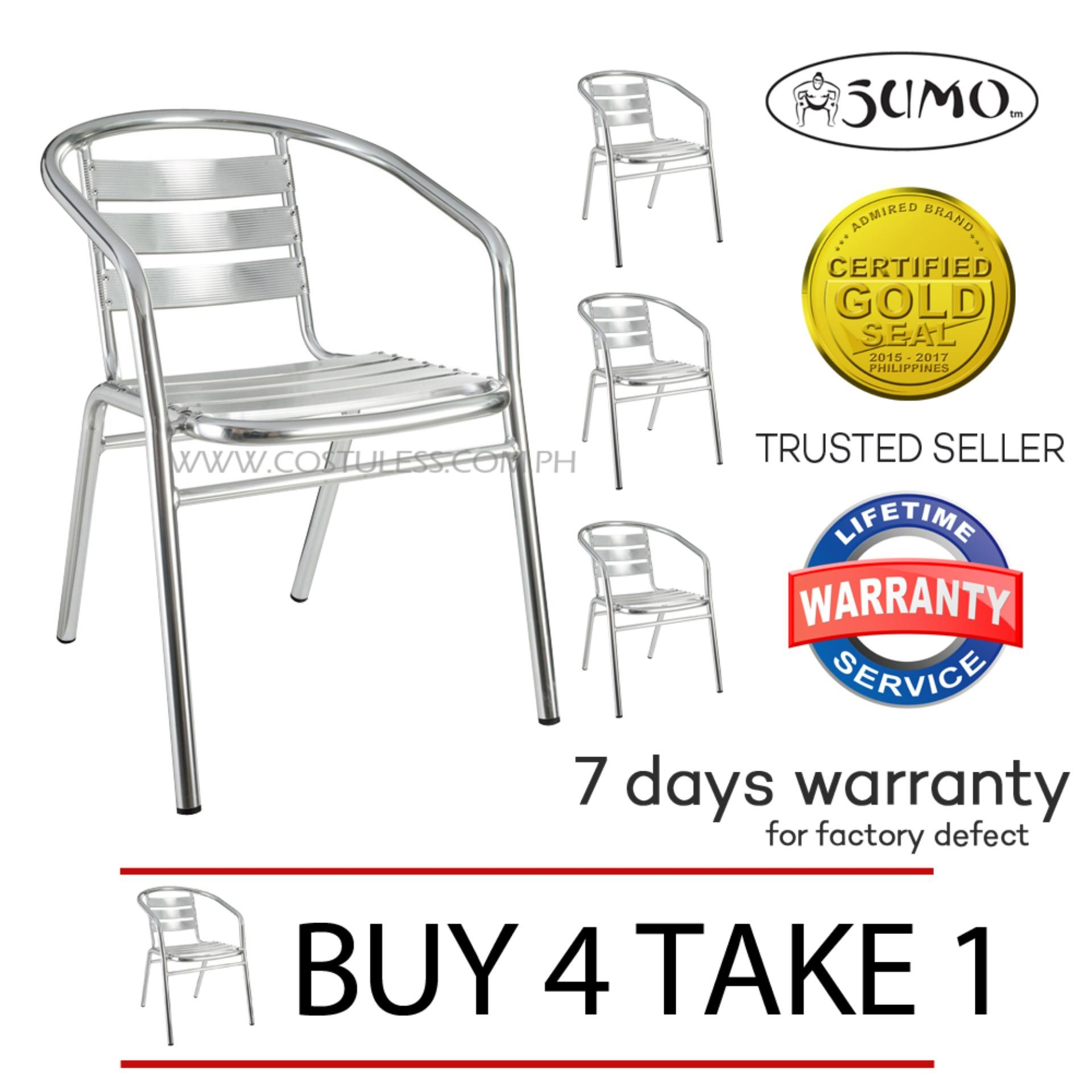 Sumo ACA-103DLX Outdoor Chair Furniture (Silver) Buy 4 Take 1