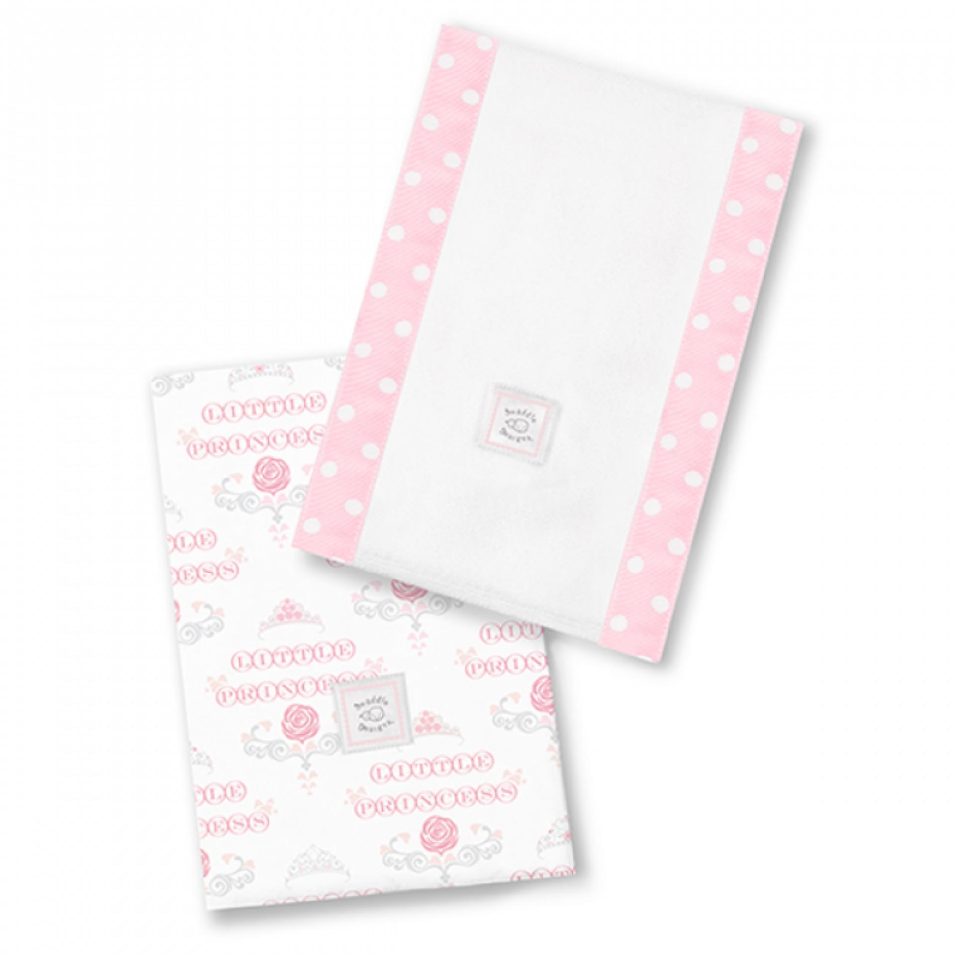 Swaddle Designs Little Princess Baby Burpies Set of 2 (Pink)