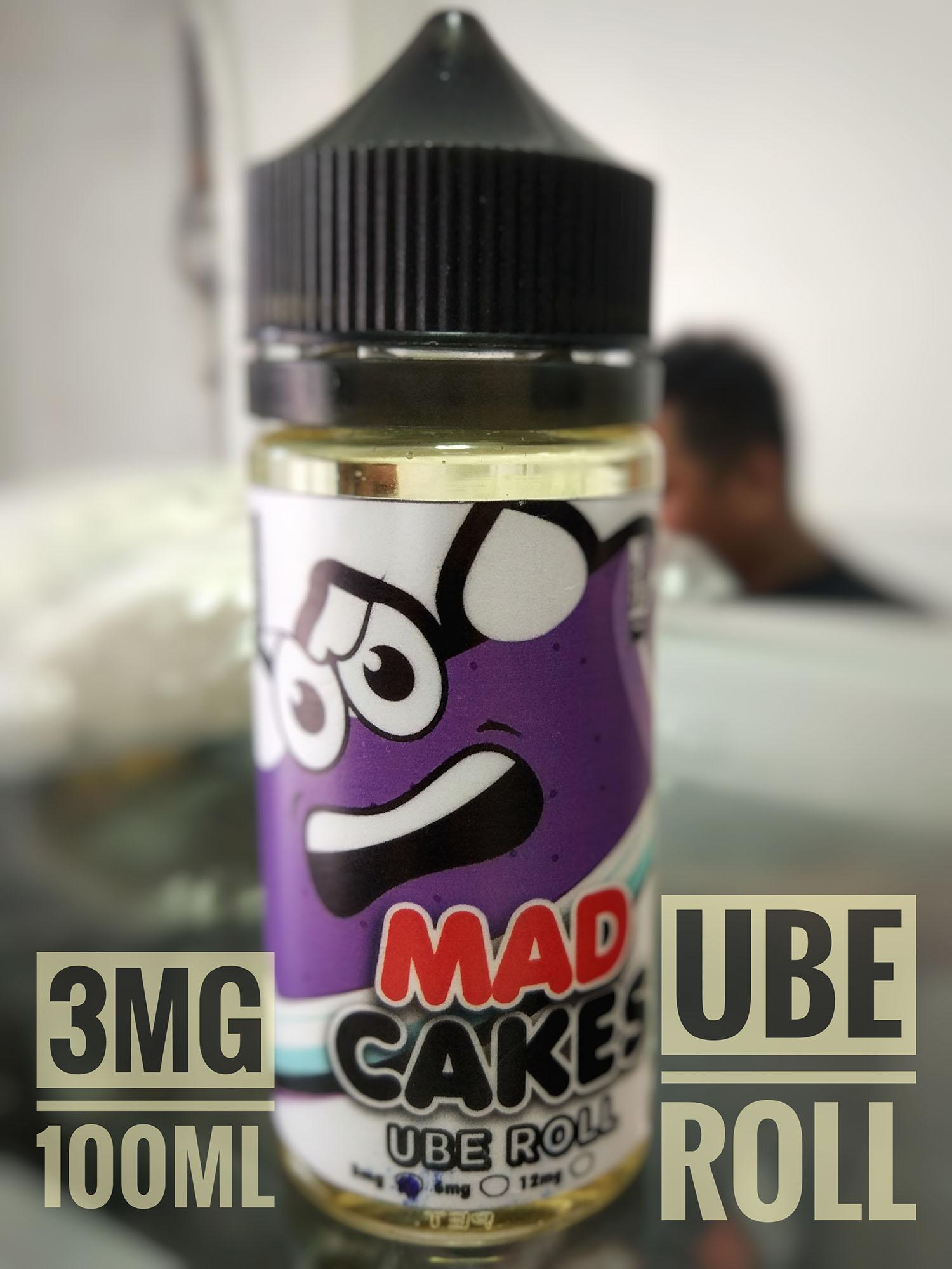 Mad Cakes [ Ube Roll / Strawberry Cheesecake ] 100ML 3MG E Juice E Liquid Vape Juice