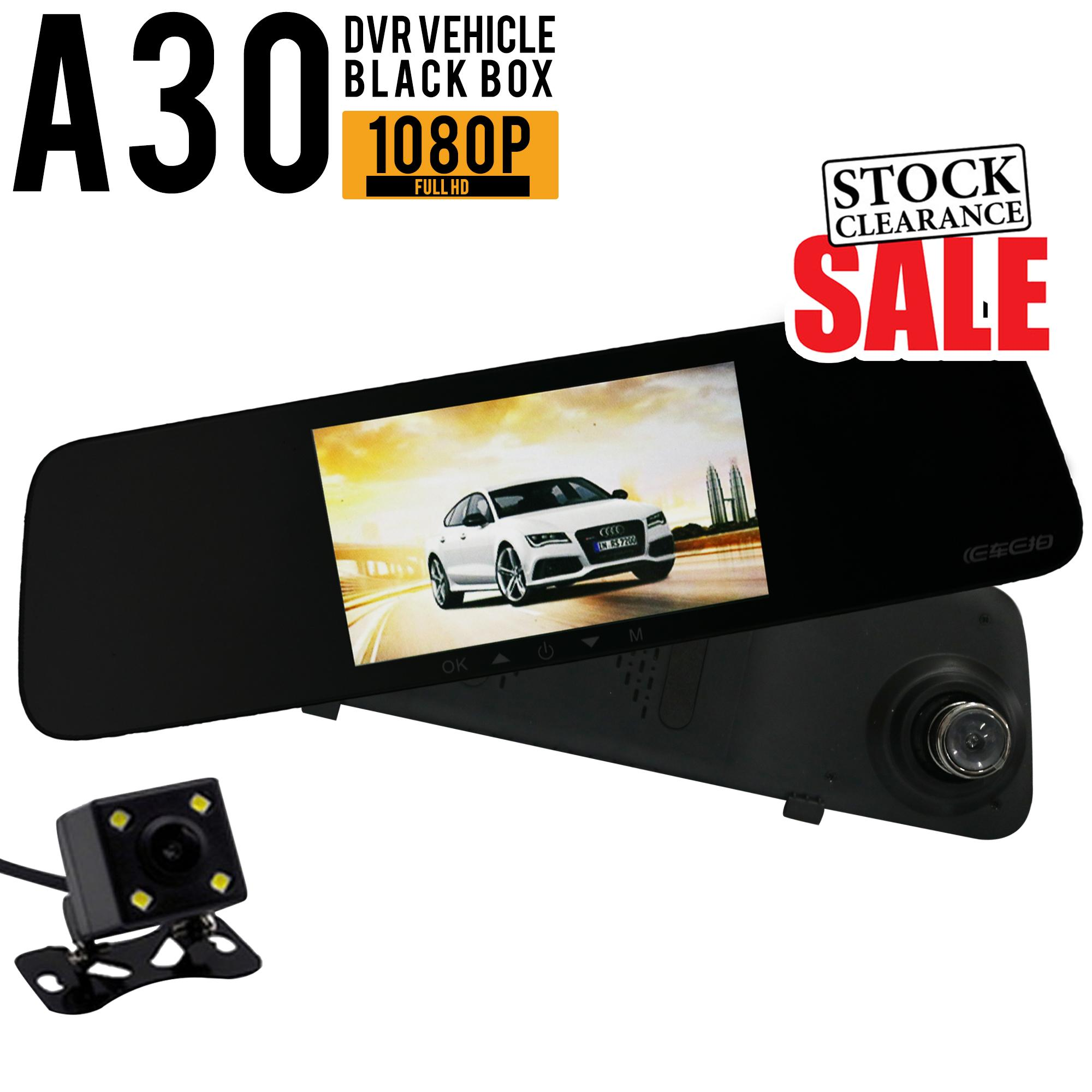 Ecam A23 HD Car Rear View Mirror Dash Camera Recorder dual cam
