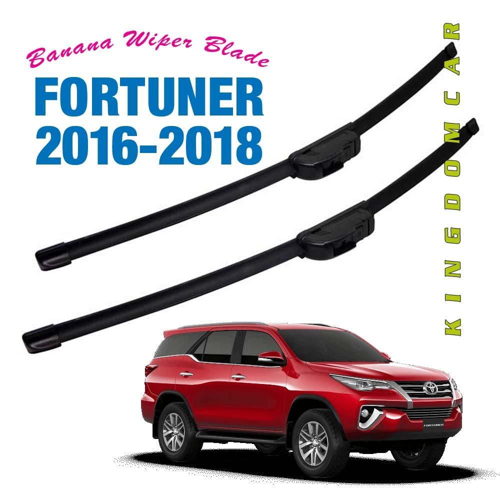 (Pair) Banana Wiper Blades for Toyota Fortuner 2016 2017 2018 2019