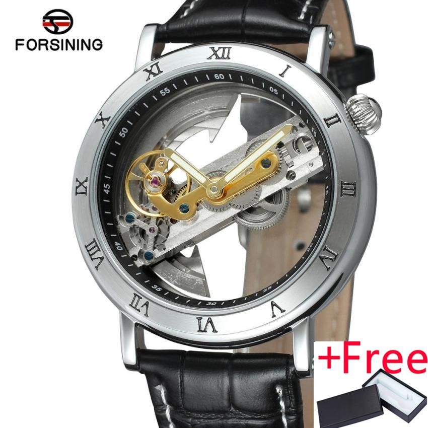 FORSINING forsining 1625 Men's Watch automatic mechanical watch Skeleton Style double-sided Flywheel Stainless Steel Hollow Out Watches - intl