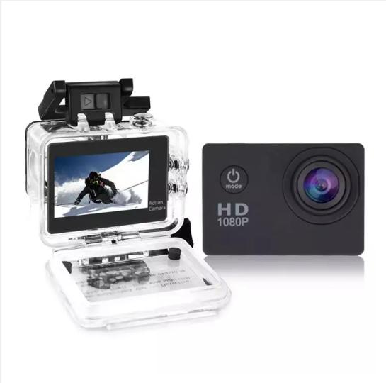 "(Black)A7 Sports Camcorder HD 1080P 2.0"" LCD Screen Sports Action Camera with Waterproof Case VANKE"