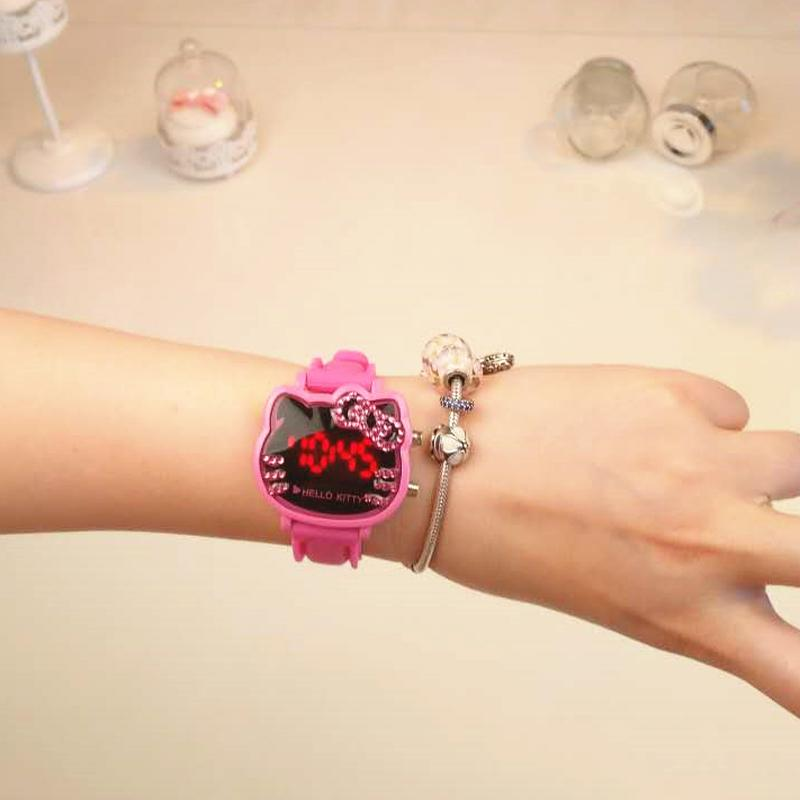 72e661832 Product details of Hello Kitty women watch watches 2017 New Style Cartoon  Cute Students Man-made Diamond Waterproof Jelly Kids' watch watches