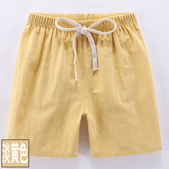 Boys Capris, Solid Color Cotton Linen Cropped Pants Girls' Casual Shorts  Kids' Beach Shorts Baby Thin New Summer Pants | Lazada