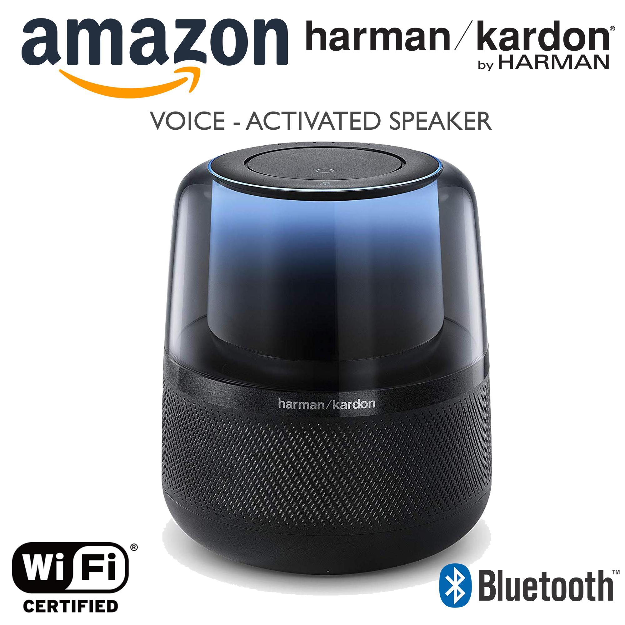 Amazon Allure Harman - Kardon Voice-Activated Home Speaker with Alexa Black  Wifi/Bluetooth Ready