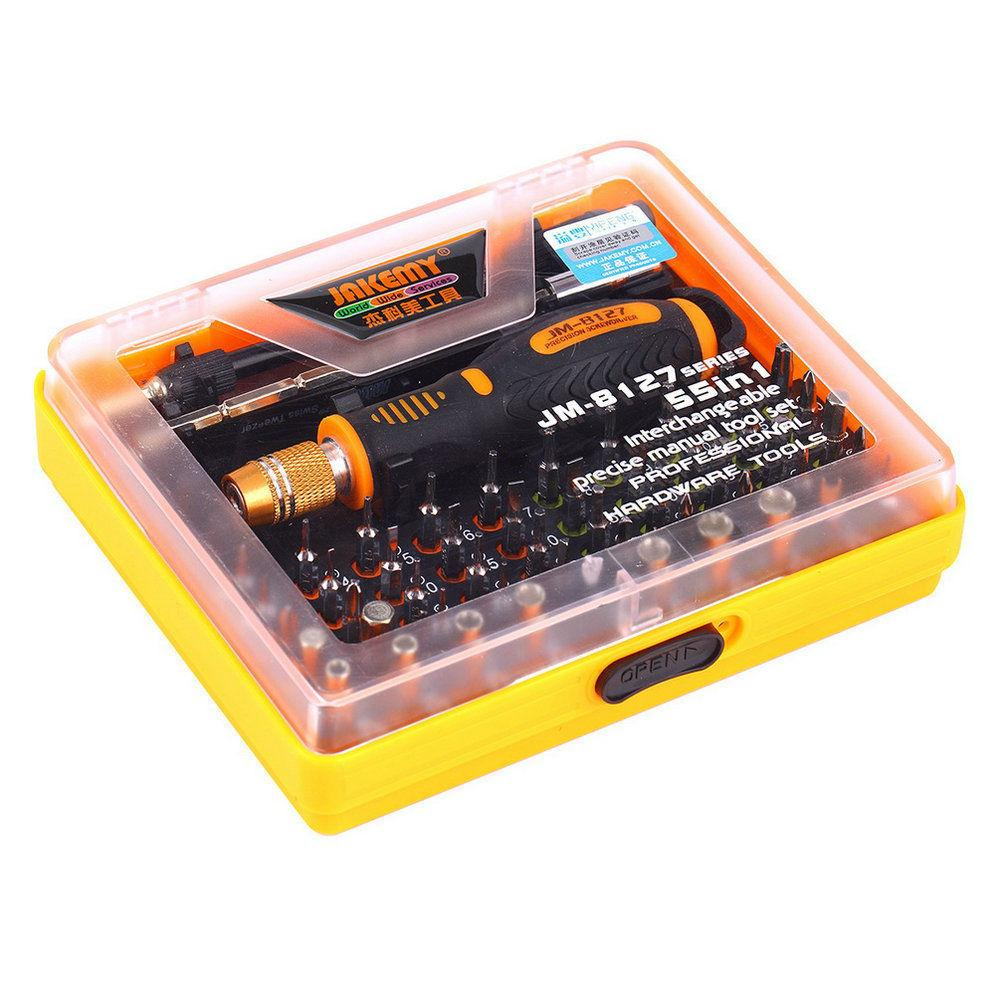 Star Mall 53 in 1 JM-8127 Screwdriver Set Repair Kit Opening Tools For Cellphone Computer Orange 150x130x32MM