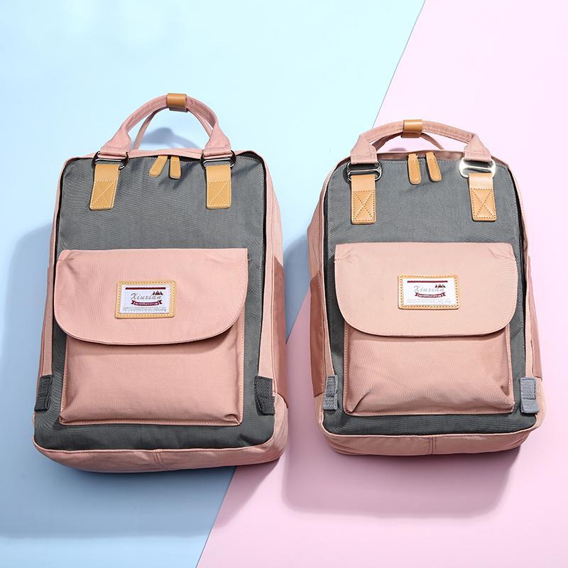 INS Wind School Bag Female Korean Style High School Junior High School College Student Backpack Large Capacity Mori Style Girls Vendange Sense Backpack
