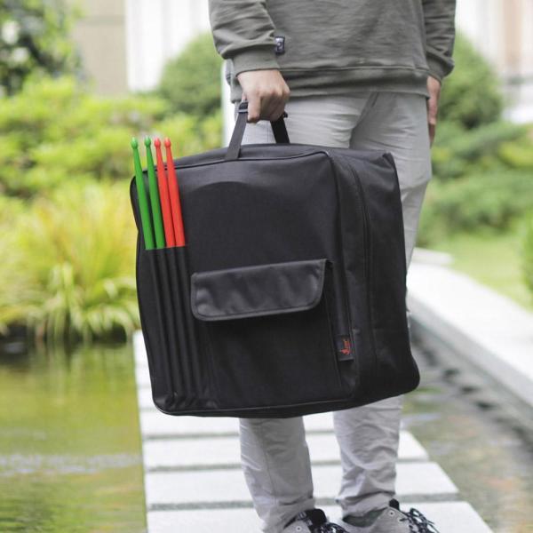 14 inch Snare drum Bag Ba lô có dây đeo vai bên ngoài túi màu đen