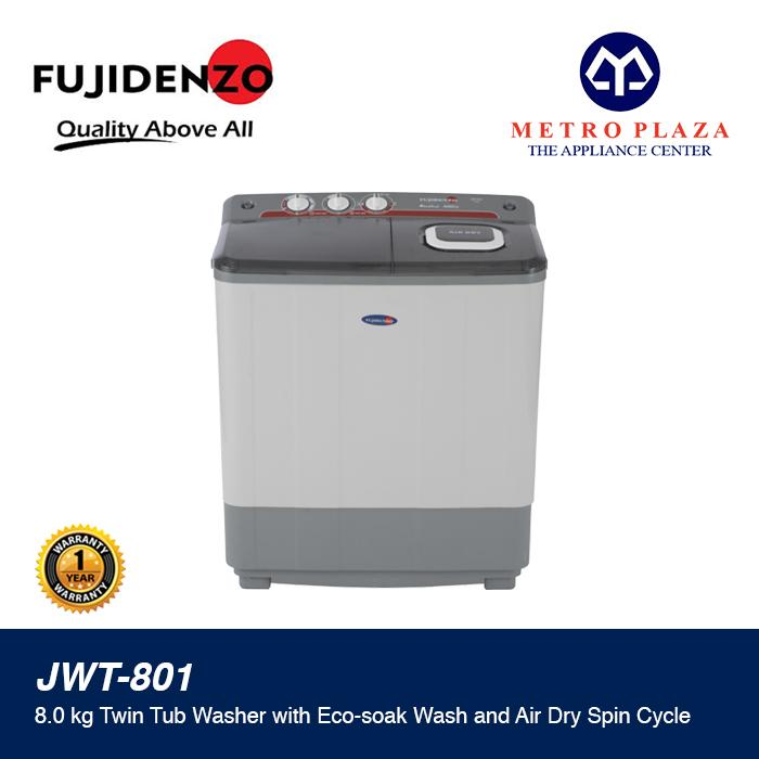 Fujidenzo 8 0 Kg  Twin Tub Washer with Air Dry Spin JWT-801