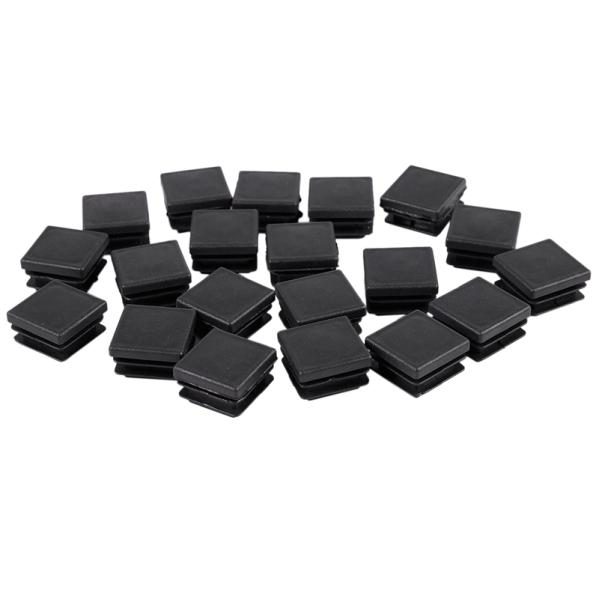 20 Pcs Plastic Square Blanking End Caps Tube Inserts 25mm x 25mm giá rẻ