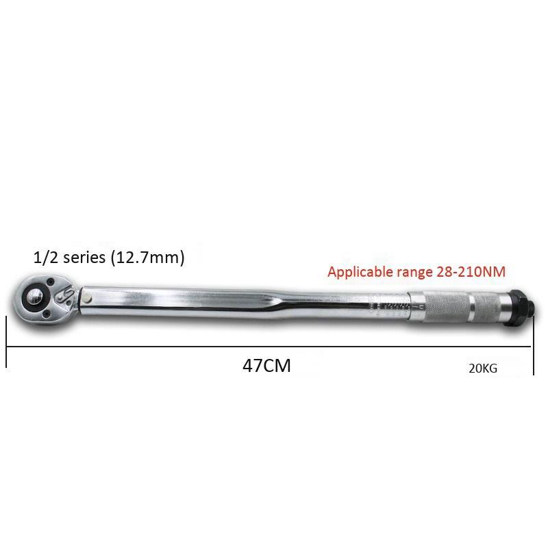 "1//2/"" 42-210Nm 2-Way Bicycle Bike Torque Wrench Repair Tool"