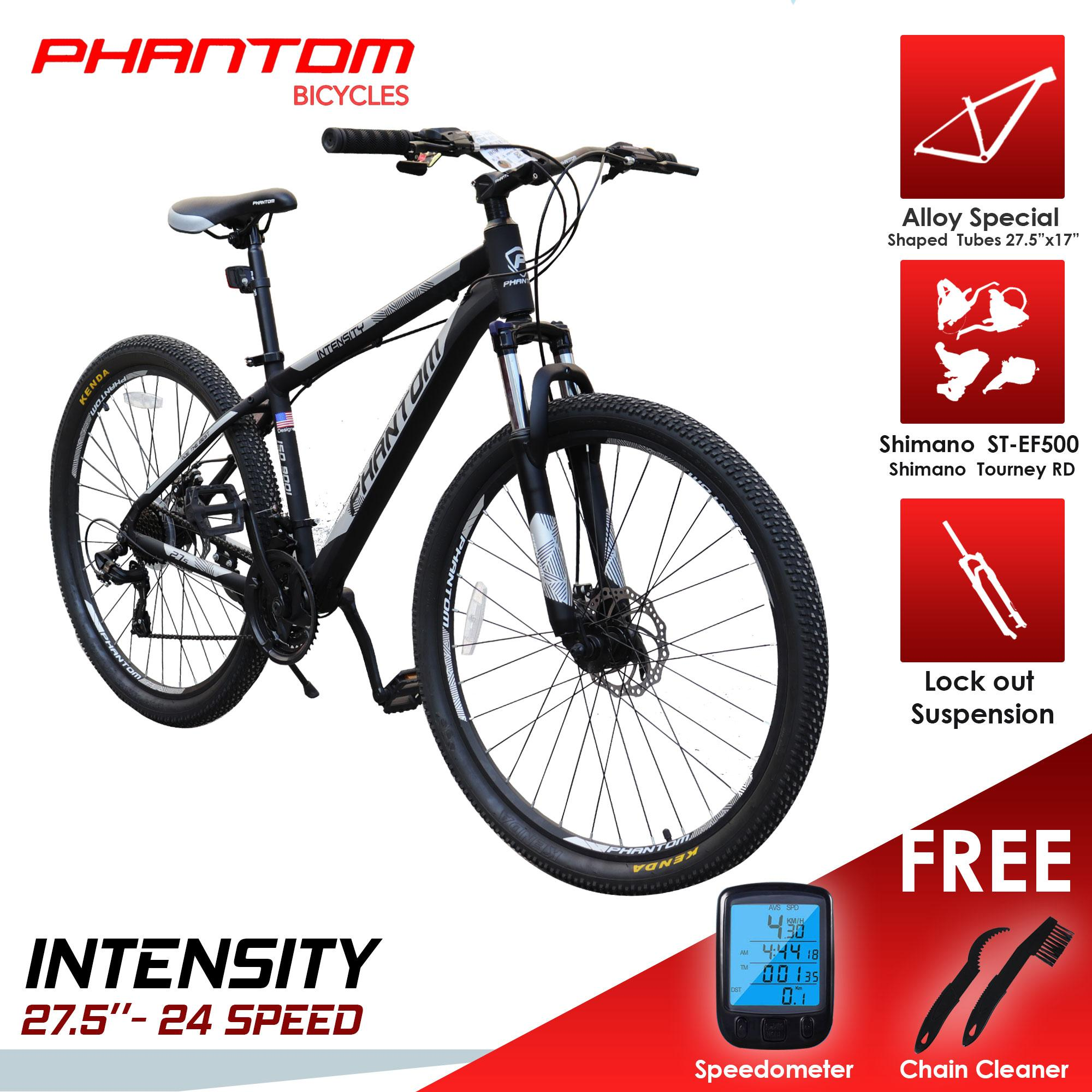 "2646db8d8 ... Mountain Bikes. PHANTOM INTENSITY 27.5""- 24 SPEED ALLOY FRAME with FREE  WIRELESS SPEEDOMETER and 2 in"