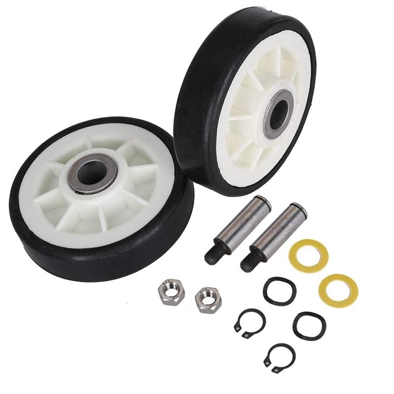 2PCS Dryer Drum Support Roller and Shaft for 303373, 12051541, ER303373K, 303373K Singapore