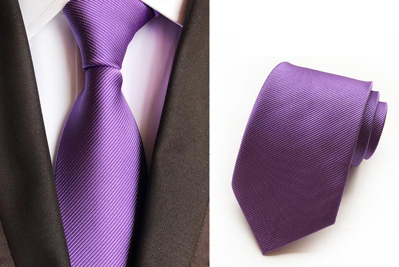 998ef84db70c Polyester Silk Tie Necktie Business Wedding Party Formal Neck Ties Solid  Color