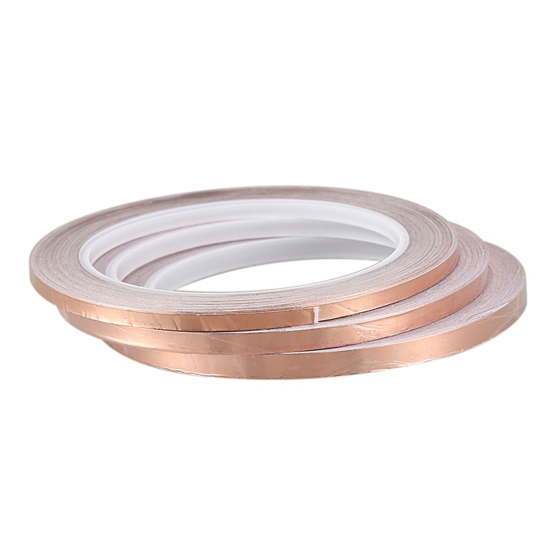 3Pcs 20 Meters Single Side Conductive Copper Foil Tape Strip Adhesive Emi Shielding Heat Resist Tape(4Mm/5Mm/6Mm) Malaysia