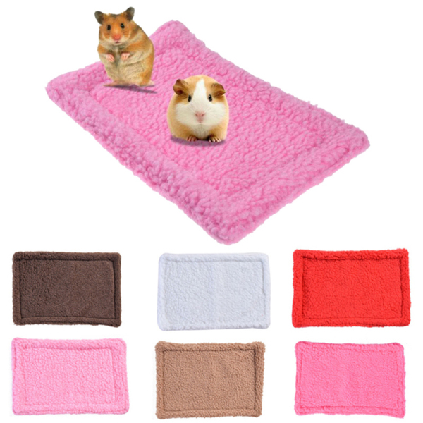 2sql 1pc Comfortable Puppy Blanket Small Animal Mat Rabbit Pad Hamster Cushion Thick Guinea Pig Sleep Bed House Sleeping cozy Fashion