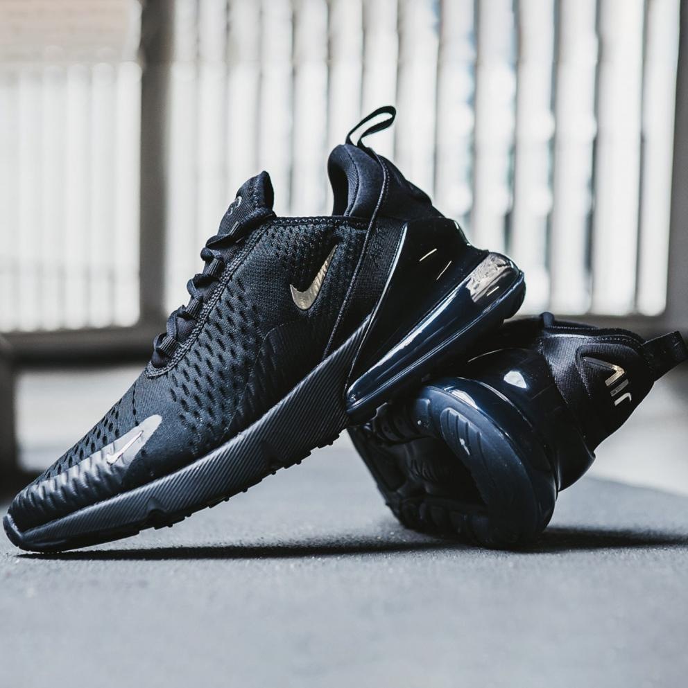 good texture new lower prices united states Most Popular Nike Air Max 270 Flyknit Black White Men Sportswear Running  Shoes