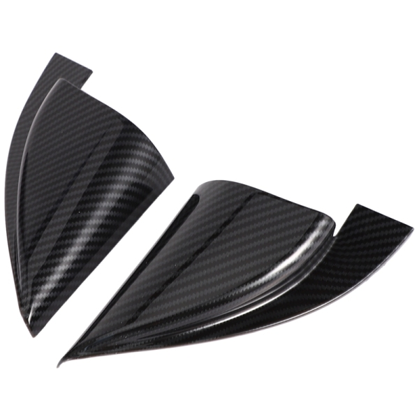 Car Accessories Front Door a Pillar Triangle Cover Trim for Hyundai Encino Kauai Kona 2017 2018 2019 2020 Carbon Fiber Pattern