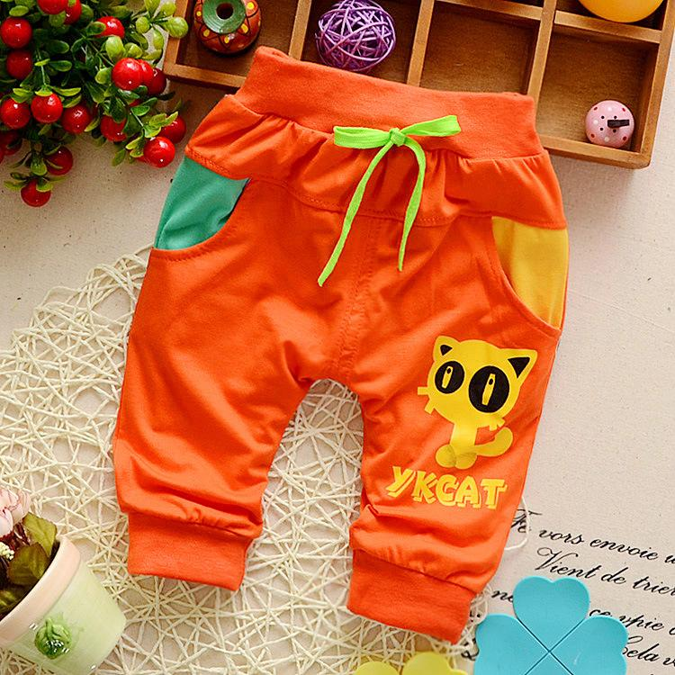 Ienens 0 1 2 3 Years Kids Baby Boy Cotton Bottoms Fashion Toddler Inafnt Boys Casual Mid Pants Knee Length Trousers Cartoons By Ienens.