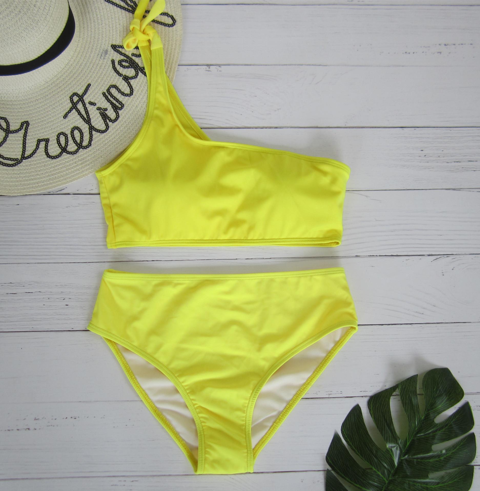 3bc909cdfb 2018 Marysia New Style Bathing Suit INS Europe And America One-Shoulder  Split Type Bikini