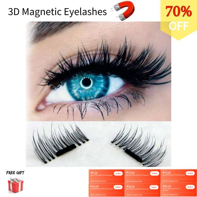 3D Magnetic Eyelashes Invisible Magnetic Lashes Mink Eyelashes With Tweezer Magnet Mink Lashes Thick Full Strip