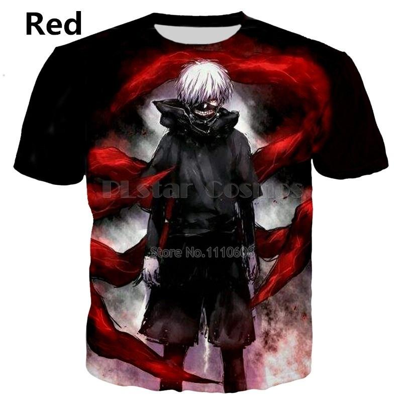 ab104e23f80 2018 Newest Hot Anime Tokyo Ghoul 3d print T-shirts New style Fashion Men