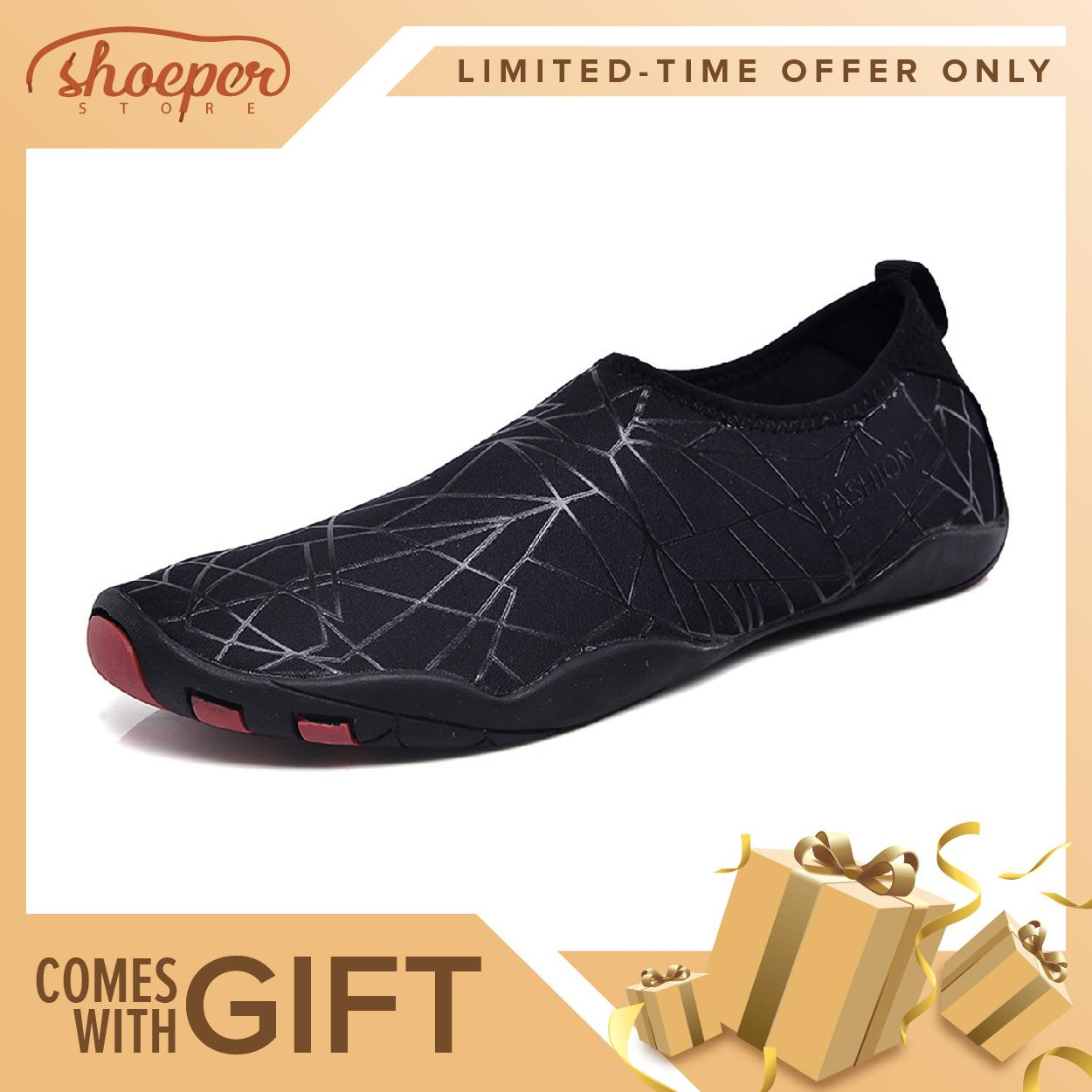 Shoeper Jxs-1 Swimming Shoes For Men & Women Beach Summer Footwear Affordable Water Shoes Slip-On Easy To Wear Sports Shoes For Under Water Activities By Shoeper Store.